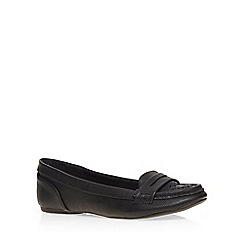 Dorothy Perkins - Black 'lace' punch out loafer