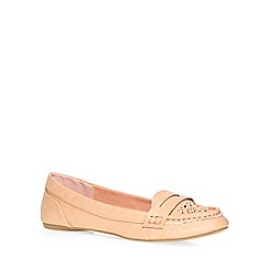 Dorothy Perkins - Pink 'lace' punch out loafers