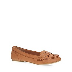 Dorothy Perkins - Tan 'lace' punch out loafers