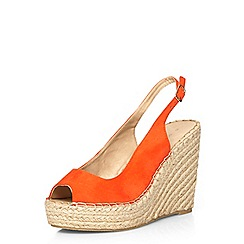 Dorothy Perkins - Orange 'pia' sling back wedges
