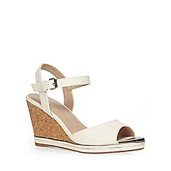 Dorothy Perkins - White cork 'vivian' wedges