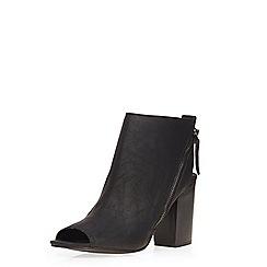 Dorothy Perkins - Black 'leilani' zip peep boots
