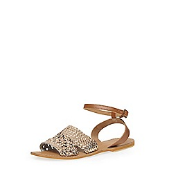 Dorothy Perkins - Gold leather 'scarlet' sandals