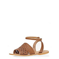 Dorothy Perkins - Tan leather 'scarlet' sandals