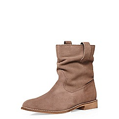 Dorothy Perkins - Leather tan 'nena' pull on boots