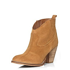 Dorothy Perkins - Tan 'nancy' leather boots