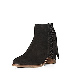 Dorothy Perkins - Black 'nettie' leather boots