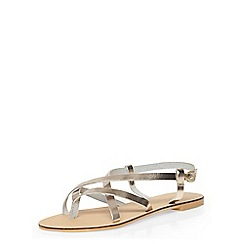 Dorothy Perkins - Leather gold 'spangle' sandal