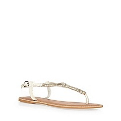 Dorothy Perkins - White 'shea' leather sandals