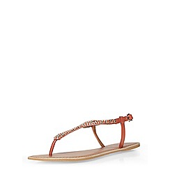 Dorothy Perkins - Coral leather 'shea' sandals