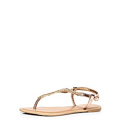 Dorothy Perkins - Gold 'shea' leather sandals