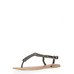 Dorothy Perkins - Pewter leather 'shea' sandals