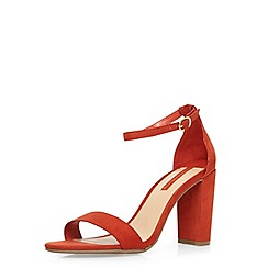 Dorothy Perkins - Orange 'carson' heeled sandals