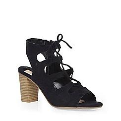 Dorothy Perkins - Black 'racer' ghillie sandal