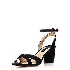 Dorothy Perkins - Black 'rada' cross front block heel sandals