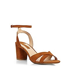 Dorothy Perkins - Tan 'rada' cross front block heel sandals