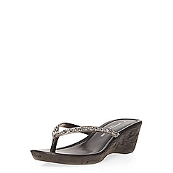 Dorothy Perkins - Black venti gem wedges