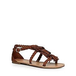 Dorothy Perkins - Tan 'sabrina' fringed sandals