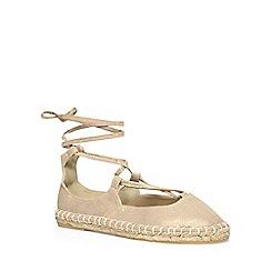 Dorothy Perkins - Gold 'capri' ghillie sandals