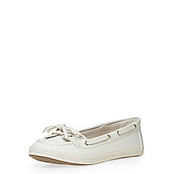 Dorothy Perkins - White 'lanai' boat shoe