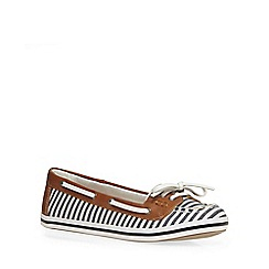 Dorothy Perkins - Blue stripe 'lanai' boat shoes