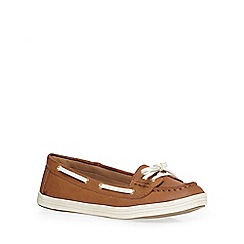Dorothy Perkins - Tan 'lanai' boat shoe