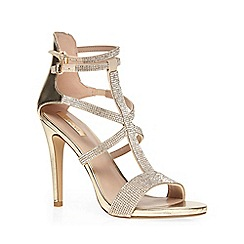 Dorothy Perkins - Gold 'fizz' dressy sandals