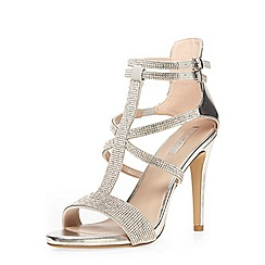 Dorothy Perkins - Silver 'fizz' dressy sandals