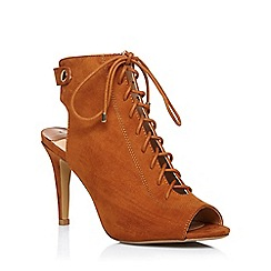 Dorothy Perkins - Tan 'lance' lace up boots
