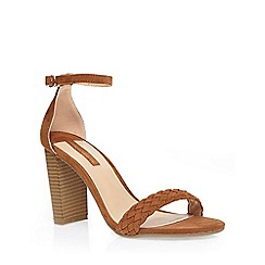 Dorothy Perkins - Tan 'carlton' plaited vamp
