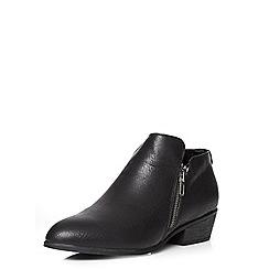 Dorothy Perkins - Black 'lippy' zip detail boots