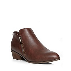 Dorothy Perkins - Tan 'lippy' zip detail boots