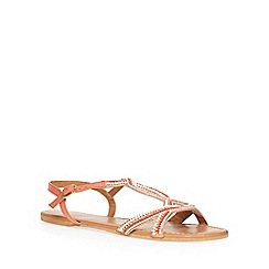 Dorothy Perkins - Coral 'syrup' leather sandals