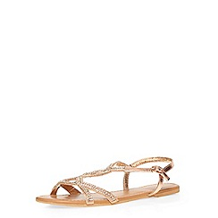 Dorothy Perkins - Gold 'syrup' leather sandals