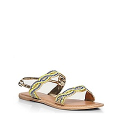 Dorothy Perkins - Lemon 'sugar' leather sandals