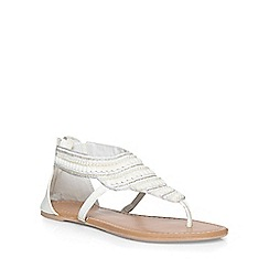 Dorothy Perkins - White 'sweet' cuff sandals