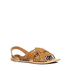 Dorothy Perkins - Tan 'see' leather sandals