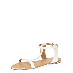 Dorothy Perkins - White t-bar sandals