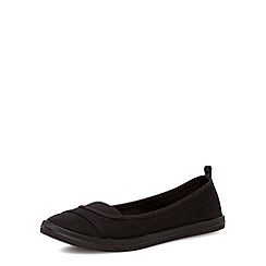Dorothy Perkins - Black canvas casual slip-ons