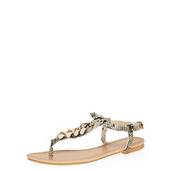 Dorothy Perkins - Nude snake-effect sandals