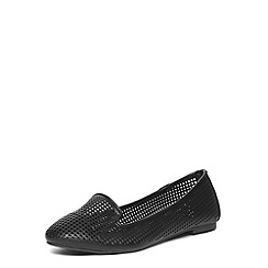 Dorothy Perkins - Black lazercut slipper pumps