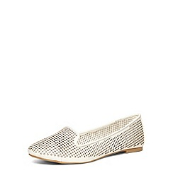 Dorothy Perkins - White lazercut slipper pumps