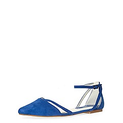 Dorothy Perkins - Blue cut out pointed pumps