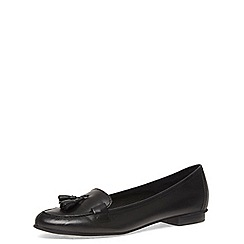 Dorothy Perkins - Black leather tassle loafers