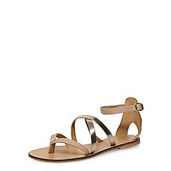 Dorothy Perkins - Nude leather gladiator sandals