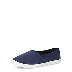 Dorothy Perkins - Navy canvas slip-ons
