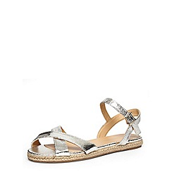 Dorothy Perkins - Silver espadrille flat sandals