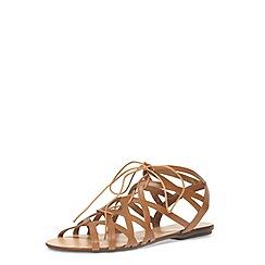 Dorothy Perkins - Tan leather gladiator sandal