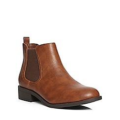 Dorothy Perkins - Tan 'may' chelsea boots
