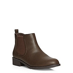 Dorothy Perkins - Chocolate 'may' chelsea boots